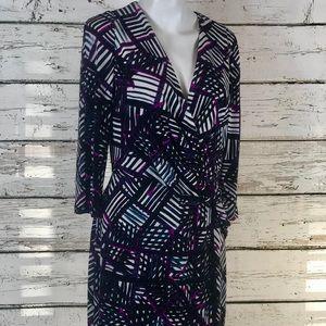 D2 Donna Morgan Career Dress w/Flattering Waist 10